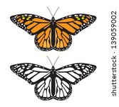 Stock vector butterfly 139059002