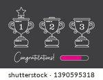 trophy vector logo template....