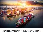 logistics and transportation of ... | Shutterstock . vector #1390599485