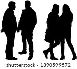 group of people. crowd of... | Shutterstock .eps vector #1390599572
