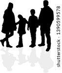 family black silhouettes....   Shutterstock .eps vector #1390599578