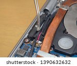 scene cleaning a disassembled...   Shutterstock . vector #1390632632