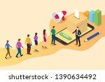 isometric 3d online vote... | Shutterstock .eps vector #1390634492