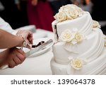 beautiful and tasty wedding... | Shutterstock . vector #139064378