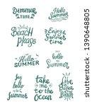 summer season themed hand...   Shutterstock .eps vector #1390648805