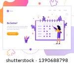 be better  the girl notes the... | Shutterstock .eps vector #1390688798