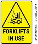 forklifts in use road sign | Shutterstock .eps vector #1390692545