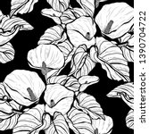 elegant seamless pattern with... | Shutterstock . vector #1390704722