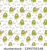 islamic cartoon doodle... | Shutterstock .eps vector #1390705148