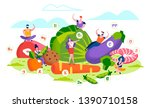 healthy lifestyle and organic... | Shutterstock .eps vector #1390710158