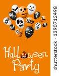 halloween party poster  banner  ... | Shutterstock . vector #1390712498
