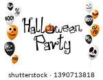 halloween party poster  banner... | Shutterstock . vector #1390713818