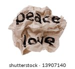 Small photo of Peace and Love concept image