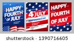happy independence day 4 th... | Shutterstock .eps vector #1390716605