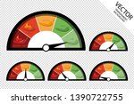chili peppers sharpness scale... | Shutterstock .eps vector #1390722755