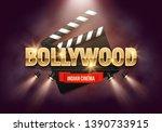 bollywood indian cinema. movie... | Shutterstock .eps vector #1390733915