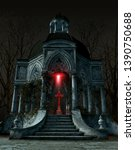 Gothic Mausoleum Tomb With A...