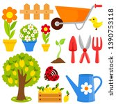 gardening illustration... | Shutterstock .eps vector #1390753118
