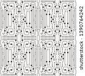 vector circuit board... | Shutterstock .eps vector #1390764242