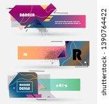 abstract banner design vector... | Shutterstock .eps vector #1390764422