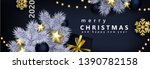 glam christmas banner with... | Shutterstock .eps vector #1390782158