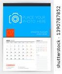 wall calendar planner template... | Shutterstock .eps vector #1390787852
