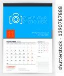 wall calendar planner template... | Shutterstock .eps vector #1390787888