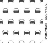seamless pattern with car on... | Shutterstock .eps vector #1390796372