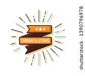congratulations for success...   Shutterstock .eps vector #1390796978
