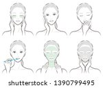 illustration of a woman doing... | Shutterstock .eps vector #1390799495