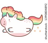 cute flying unicorn with... | Shutterstock .eps vector #1390804892