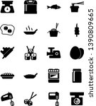 vector simple icon set   egg... | Shutterstock .eps vector #1390809665