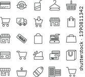 thin line vector icon set  ... | Shutterstock .eps vector #1390811342