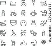 thin line vector icon set  ...   Shutterstock .eps vector #1390814585