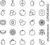 thin line vector icon set  ... | Shutterstock .eps vector #1390818032