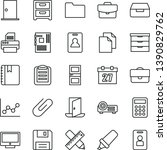 thin line vector icon set  ... | Shutterstock .eps vector #1390829762