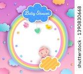 illustration vector of baby... | Shutterstock .eps vector #1390830668