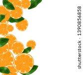 vector wallpaper with oranges...   Shutterstock .eps vector #1390856858