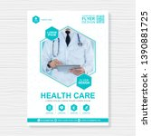 healthcare cover a4 template... | Shutterstock .eps vector #1390881725