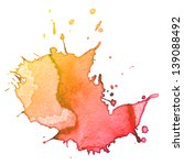 abstract hand drawn watercolor... | Shutterstock . vector #139088492