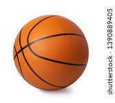 Small photo of basketball ball isolated on white