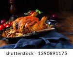 grilled spicy chicken with... | Shutterstock . vector #1390891175