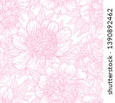 seamless pattern with peony... | Shutterstock .eps vector #1390892462