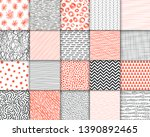 abstract hand drawn geometric... | Shutterstock .eps vector #1390892465