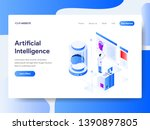landing page template of... | Shutterstock .eps vector #1390897805
