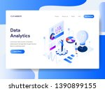 landing page template of data... | Shutterstock .eps vector #1390899155