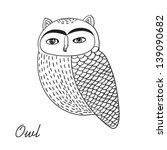 cute hand drawn owl bird...   Shutterstock .eps vector #139090682