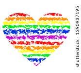 lgbt pride rainbow heart....   Shutterstock .eps vector #1390937195