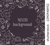 hand drawn mathematics formulas ... | Shutterstock .eps vector #1390948952