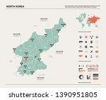 vector map of north korea. high ...   Shutterstock .eps vector #1390951805